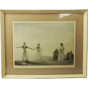Signed 1966 Print Of A Watercolour By Sir William Russell Flint – 'Castanets'