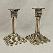 Pair of Silver Candlesticks London 1898