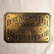 1945 Lord Horatio Nelson Plaque From HMS Victory