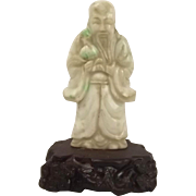 Chinese Ching Dynasty Jadeite Jade Wise Old Man