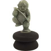 Chinese Jadeite Jade Carving Of A Dancing Boy