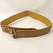 British Officers Gold Belt