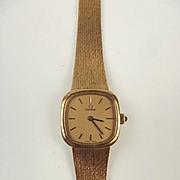 Ladies 9ct Yellow Gold Omega Wristwatch