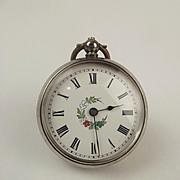 Late 19th Century Ladies Silver Swiss Pocket Watch