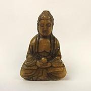 Chinese Ching Nephrite Jade Small Buddha