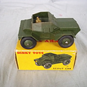 Boxed Dinky Toys 673 Scout Car 1953-61 With Both Soldiers