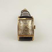 Gents 10ct Gold Filled Gruen Drivers Wristwatch c1930's