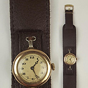 Gents Gold Plated Fortune Trench Watch c1915