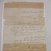 1834 Dated Document Written And Signed By The Duke Wellington