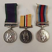 Set Of 3 Elizabeth II Royal Fusiliers Medals To 25188668 D J Stevenson