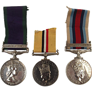 Set Of 3 Elizabeth II Royal Fusiliers Medals To 25188668 D J Stevenson