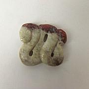 Chinese Ching Dynasty Nephrite Jade Winding Snake Pendant