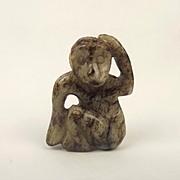 Chinese Ching Dynasty Nephrite Jade Monkey