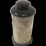 Chinese Ching Dynasty Nephrite Jade Cylindrical Lidded Brush Pot