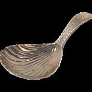 George III Silver Caddy Spoon London 1786