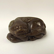 Chinese Ching Dynasty Nephrite Jade Carving Of A Mythical Creature