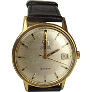 Gents Gold Plated Omega Geneve Automatic Wristwatch