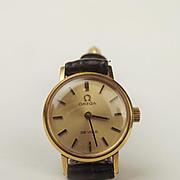 Ladies Gold Plated Omega De Ville Wristwatch
