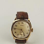 Gents 9ct Gold Vertex Wristwatch