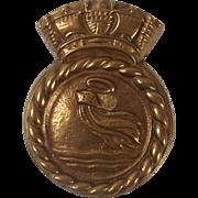 HMS Isle Of Sark Bronze Ships Boats Badge