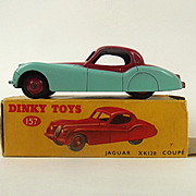~ Boxed Dinky Toys 157 Jaguar XK 120 Coupe (Turquoise/Cerise) ~