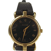 Ladies Gold Plated Gucci Wristwatch c1980's