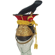 Late 19th Century 5th Lancers Chapka Or Lance Cap Helmet
