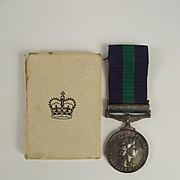 General Service Medal Awarded To 23494781 Fusilier V. Males - Royal Fusiliers