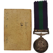 General Service Medal Awarded To 3149455 Leading Aircraftman J.S. Arscott – RAF