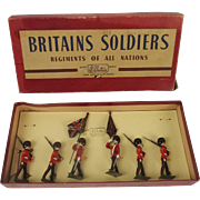 Boxed Britains Soldiers ROAN Set 2084 - Colour Party Of The Scots Guards c1950's