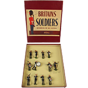 Boxed Britains Soldiers ROAN Set 2153 Royal Marines Band c1950's
