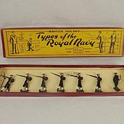 Pre-War Boxed Britains Types Of The Royal Navy – No.2080 Royal Navy