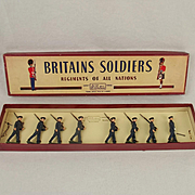 Boxed Britains Soldiers ROAN Set 2073 Royal Air Force c1950's
