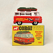 Boxed Corgi 508 Holiday Camp Special Commer Bus 1967-69