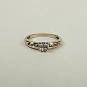 18ct White Gold 0.25CTW Diamond Ring UK Size P US 7 ½