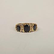 18ct Yellow Gold Sapphire & Diamond Ring UK Size P+ US 7 ¾
