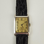 Gents Silver Cased Wrist Watch c1940's