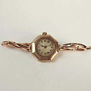 9ct Rose Gold Ladies Rolex Cocktail Watch c1915