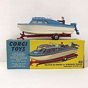 Boxed Corgi Toys 104 Dolphin 20 Cruiser On Whincheon Trailer