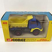 Boxed Corgi Toys 409 Mercedes-Benz Unimog Rear Dumper