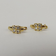Pair Of 18ct Yellow Gold Cubic Zirconia Earrings