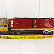 Boxed Corgi Toys 1106 Mack Container Truck And Trailer