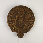 HMS Excellent Bronze Wall Plaque - Shore Base
