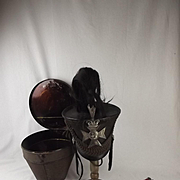 Circa 1846 Sussex Light Infantry Cased Bell Top Shako And Effects