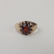 9ct Rose Gold Garnet Ring UK Size R US Size 8 ½