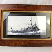 Watercolour Of Admiral Hipper On Calm Seas