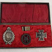 WW1 Imperial German Tank Officers Cased Award Set