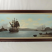 Les 'Jason' Spence Framed Oil On Canvas Seascape Painting