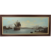 Les 'Jason' Spence Framed Oil On Canvas Seascape Painting