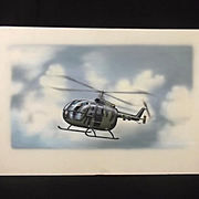 Original Airfix Model 01068 Box Artwork 1/72 Helicopter MBB BO 105C By James Goulding